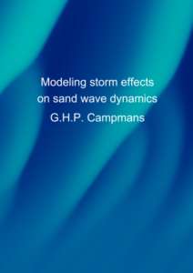 Modeling storm effects on sand wave dynamics