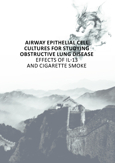 Airway epithelial cell cultures for studying obstructive lung disease
