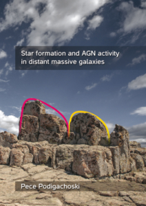Star formation and AGN activity in distant massive galaxies